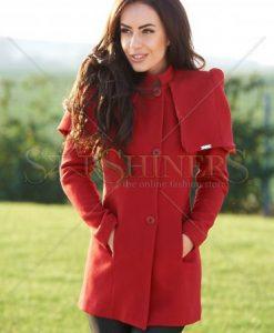 Palton PrettyGirl Towering Red - Paltoane -