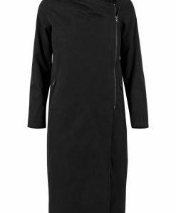Palton asimetric lung cu fermoar pentru Femei negru Urban Classics - Geci de iarna - Urban Classics>Femei>Geci de iarna