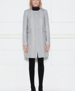 Palton clasic fara guler Gri - Imbracaminte - Imbracaminte / Paltoane