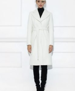 Palton cu curea in talie Crem - Imbracaminte - Imbracaminte / Paltoane