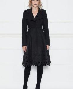 Palton cu design special Negru - Imbracaminte - Imbracaminte / Paltoane