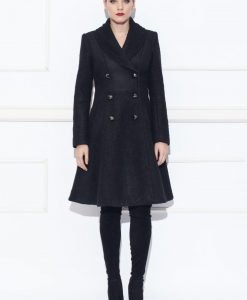 Palton din material texturat Negru - Imbracaminte - Imbracaminte / Paltoane