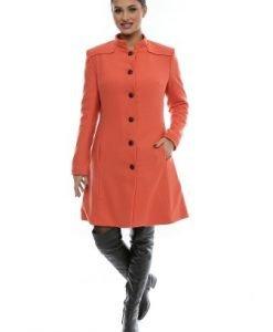 Palton din stofa de lana CR0072BS orange - Paltoane -