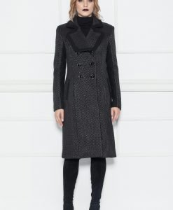 Palton negru texturat Negru - Imbracaminte - Imbracaminte / Paltoane