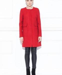 Palton rosu elegant Rosu - Imbracaminte - Imbracaminte / Paltoane