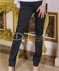 Pantalon Otis Negru Elegant - Haine - Paltoane/Jachete