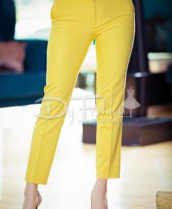 Pantalon Sorana Galben Office - Haine - Blugi/Pantaloni