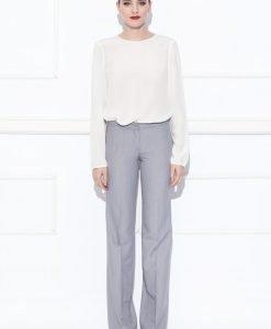 Pantalon cu croiala dreapta Gri - Imbracaminte - Imbracaminte / Pantaloni