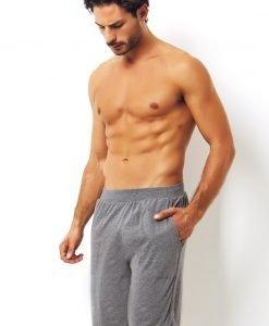 Pantalon scurt gri din bumbac - Lenjerie pentru barbati - Haine de casa