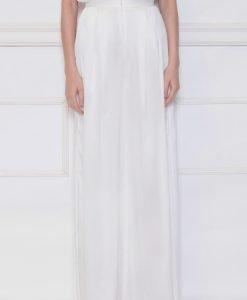 Pantaloni albi cu slit lateral Alb - Imbracaminte - Imbracaminte / Pantaloni