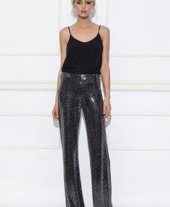 Pantaloni argintii de seara Argintiu - Imbracaminte - Imbracaminte / Pantaloni
