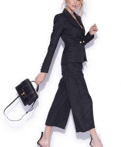 Pantaloni capri cu imprimeu Negru - Imbracaminte - Imbracaminte / Pantaloni
