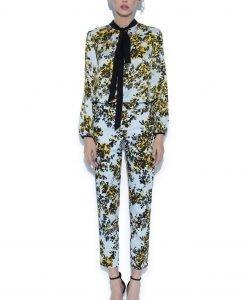 Pantaloni casual cu imprimeu floral Imprimeu - Imbracaminte - Imbracaminte / Pantaloni