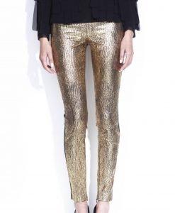 Pantaloni conici metalici Auriu - Imbracaminte - Imbracaminte / Pantaloni