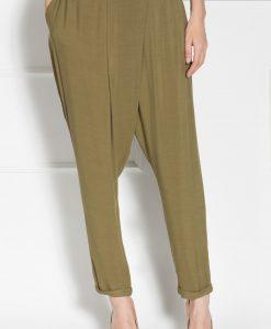 Pantaloni conici petrecuti Kaki - Imbracaminte - Imbracaminte / Pantaloni