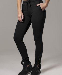 Pantaloni cu siret Fitted pentru Femei negru Urban Classics - Pantaloni trening - Urban Classics>Femei>Pantaloni trening
