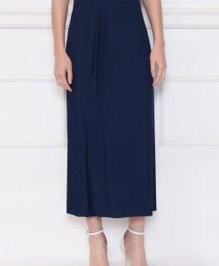 Pantaloni culotte din vascoza Bleumarin - Imbracaminte - Imbracaminte / Pantaloni