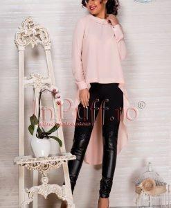 Pantaloni dama lycra cu piele ecologica si dantela - PANTALONI COLANTI - PANTALONI COLANTI > Colanti