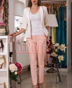 Pantaloni dama roz conici - PANTALONI COLANTI - PANTALONI COLANTI > Pantaloni