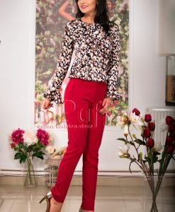 Pantaloni de dama rosu inchis - PANTALONI COLANTI - PANTALONI COLANTI > Pantaloni