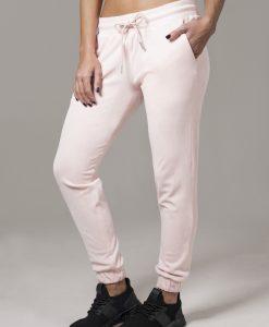 Pantaloni model tip catifea pentru Femei roz Urban Classics - Pantaloni trening - Urban Classics>Femei>Pantaloni trening