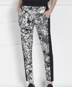 Pantaloni negri cu print monocrom Print - Imbracaminte - Imbracaminte / Pantaloni