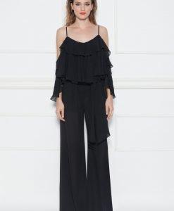 Pantaloni negri largi Negru - Imbracaminte - Imbracaminte / Pantaloni