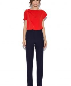 Pantaloni office bleumarin Bleumarin - Imbracaminte - Imbracaminte / Pantaloni