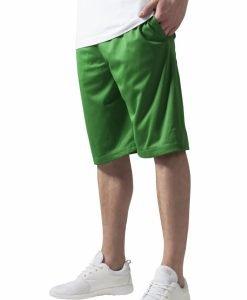 Pantaloni scurti baschet Mesh cu buzunare verde Urban Classics - Pantaloni hip hop - Urban Classics>Barbati>Pantaloni hip hop