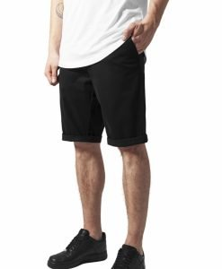 Pantaloni scurti chino stretch negru Urban Classics - Pantaloni cargo - Urban Classics>Barbati>Pantaloni cargo