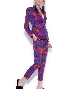 Pantaloni slim cu imprimeu multicolor Imprimeu - Imbracaminte - Imbracaminte / Pantaloni