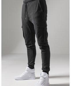 Pantaloni sport Fitted Cargo negru Urban Classics - Pantaloni cargo - Urban Classics>Barbati>Pantaloni cargo