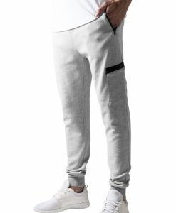 Pantaloni sport conici cu snur Athletic gri Urban Classics - Pantaloni trening - Urban Classics>Barbati>Pantaloni trening
