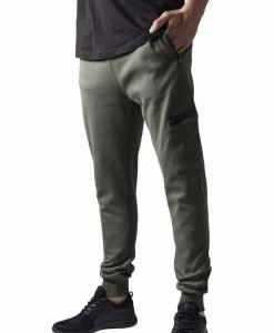 Pantaloni sport conici cu snur Athletic oliv Urban Classics - Pantaloni trening - Urban Classics>Barbati>Pantaloni trening