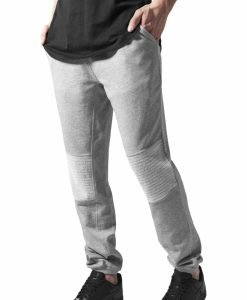 Pantaloni sport cu turul jos Terry Biker gri Urban Classics - Pantaloni trening - Urban Classics>Barbati>Pantaloni trening