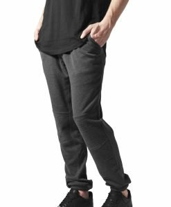 Pantaloni sport cu turul jos Terry Biker gri carbune Urban Classics - Pantaloni trening - Urban Classics>Barbati>Pantaloni trening