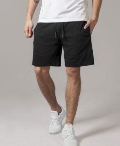 Pantaloni sport scurti Interlock negru Urban Classics - Pantaloni scurti - Urban Classics>Barbati>Pantaloni scurti