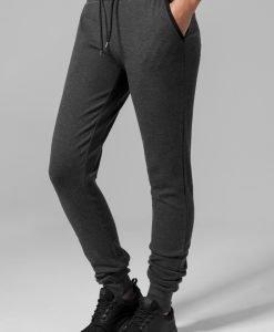 Pantaloni sport stramti Athletic pentru Femei gri carbune Urban Classics - Pantaloni trening - Urban Classics>Femei>Pantaloni trening