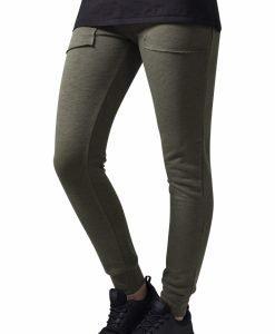 Pantaloni trening conici Fitted pentru Femei oliv Urban Classics - Pantaloni trening - Urban Classics>Femei>Pantaloni trening