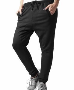 Pantaloni trening dama cu turul lasat black Urban Classics - Pantaloni trening - Urban Classics>Femei>Pantaloni trening