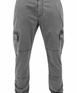 Pantaloni urban cargo cu buzunare gri Urban Classics - Pantaloni cargo - Urban Classics>Barbati>Pantaloni cargo