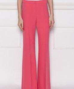 Pantaloni usor evazati cu cadere usoara Roz - Imbracaminte - Imbracaminte / Pantaloni