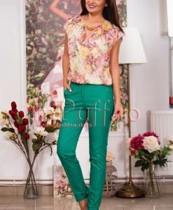 Pantaloni vernil din tercot elastic - PANTALONI COLANTI - PANTALONI COLANTI > Pantaloni
