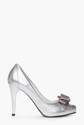 Pantaofi eleganti cu funda cu glitter din piele naturala CB060 – Pantofi –