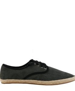 Pantofi barbati Knox gri cu insertii negre - Incaltaminte Barbati - Pantofi Barbati