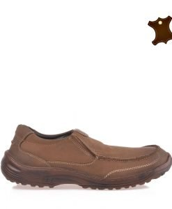 Pantofi barbati piele Tucker maro - Incaltaminte Barbati - Pantofi Barbati