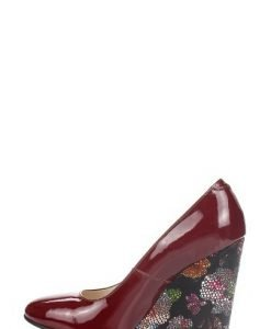 Pantofi bordo din piele lacuita P132 - Pantofi -