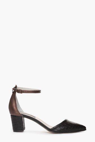 Pantofi cu varful ascutit din piele naturala CB069-N – Pantofi –