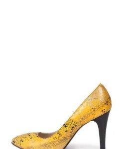 Pantofi galbeni din piele naturala P1TMG-GS - Pantofi -