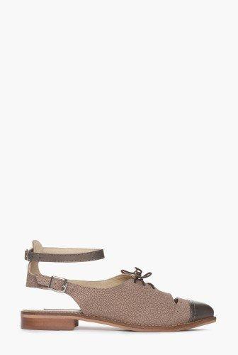 Pantofi maro cu bronz din piele naturala CB075 – Pantofi –